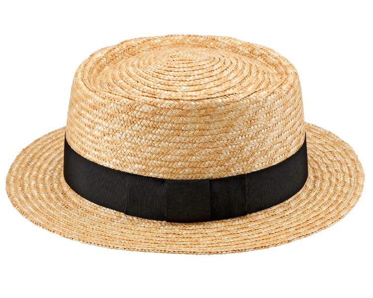 田中帽子店 uk-h079 Duke デューク ビッグポークパイハット 65cm 機能性も備えた伝統手工芸品 麦わら帽子に使われるのは主に大麦の茎。それを7本組み、真田ひも状に編んだ「麦わら真田」が材料です。麦わらは空気をよく通し、帽子内にこもりがちな熱を放出し、熱中症対策にもなります。湿度の高い日本の夏こそ、昔ながらの麦わら帽子の良さを実感してください。