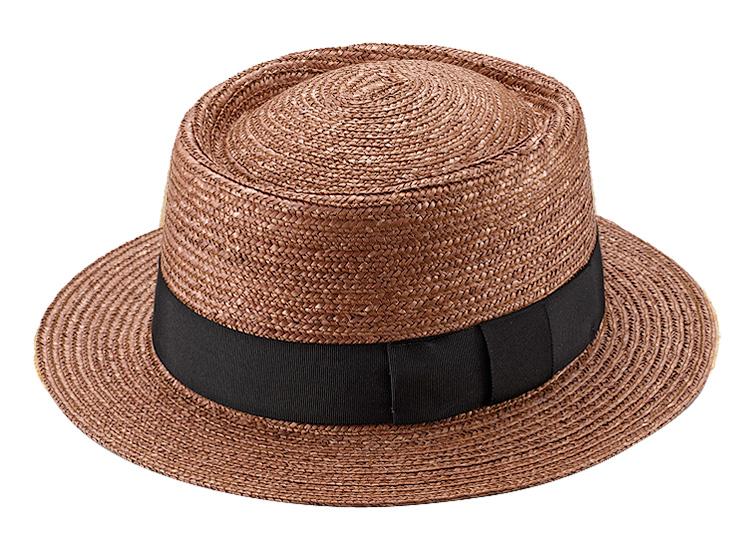 田中帽子店 uk-h079 Duke デューク ビッグポークパイハット 65cm ブラウン