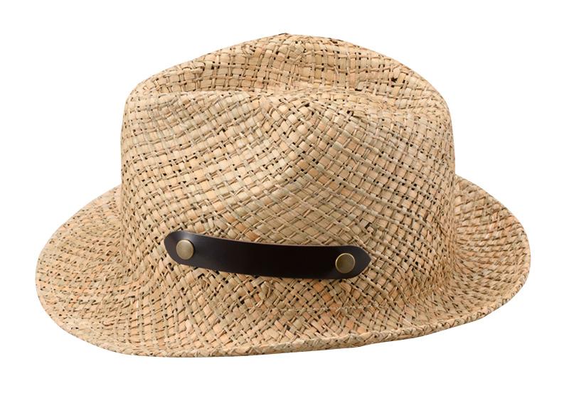 田中帽子店 uk-h086 【名入れ可】 風通涼感  ヨリカンピ 中折れハット 57.5cm 59cm   サイドについている牛革のベルトがアクセント  真夏の強い日差しから頭部を守ります。メッシュ状のデザインは風通しも抜群。その涼しげな見た目はポロシャツ、麻シャツ、アロハシャツ、もちろんTシャツにも似合い、一部牛革を使ってますので大人の雰囲気もあります。