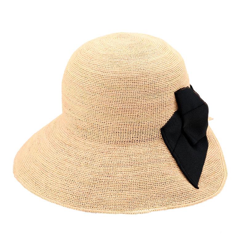 田中帽子店 uk-h097 Delia デリア ラフィア女優帽 ナチュラル