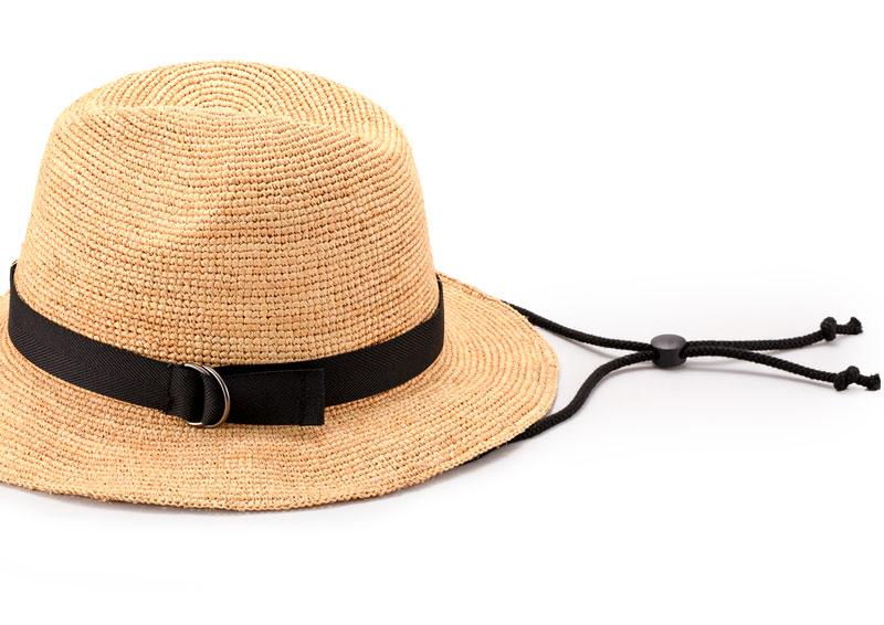 田中帽子店 uk-h098 Bailey ベイリー ラフィア 中折れつば広帽子
