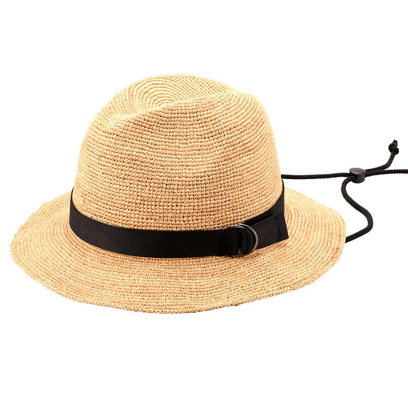 田中帽子店 uk-h098 Bailey ベイリー ラフィア 中折れつば広帽子 ナチュラル