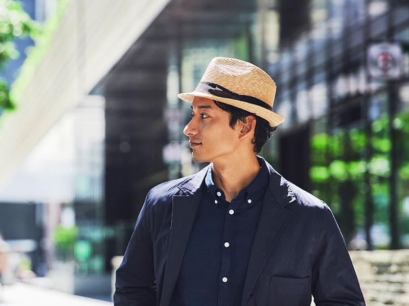田中帽子店 uk-h101 Simone シモン 麦わら 細麦中折れハット