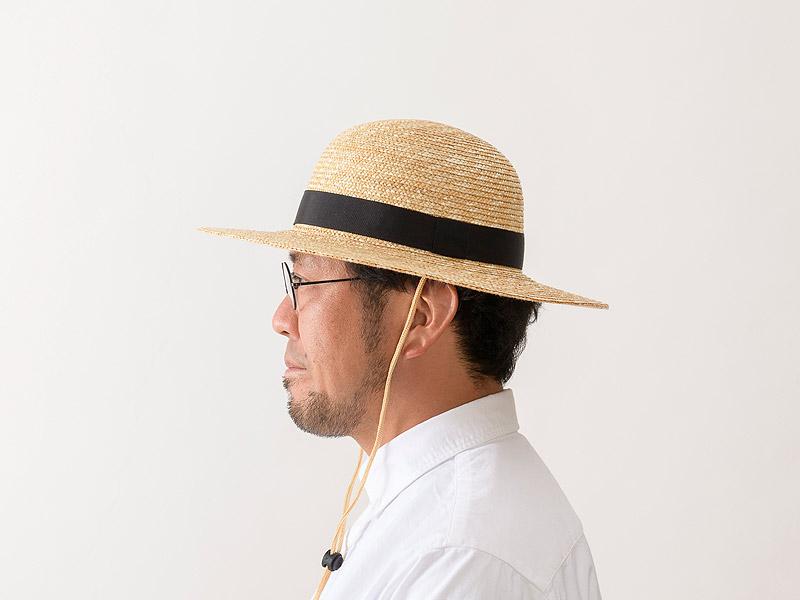 田中帽子店 uk-h105 Roger ロジャー 麦わらつば広丸型ハット