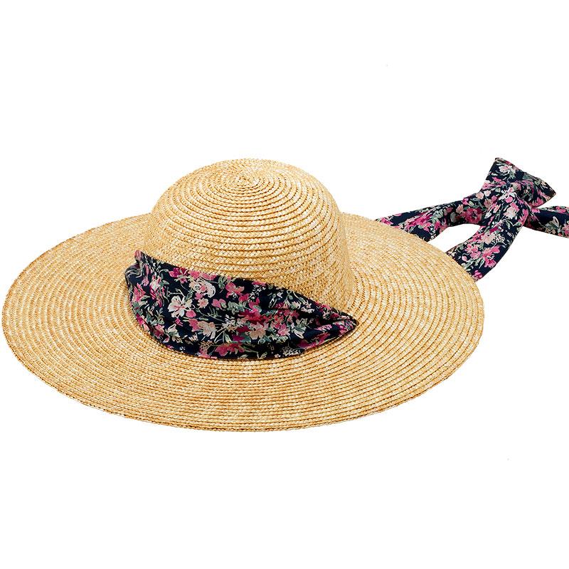 田中帽子店 uk-h108 Fiore フィオーレ ガーデニングハット 57.5cm リバティ風小花柄