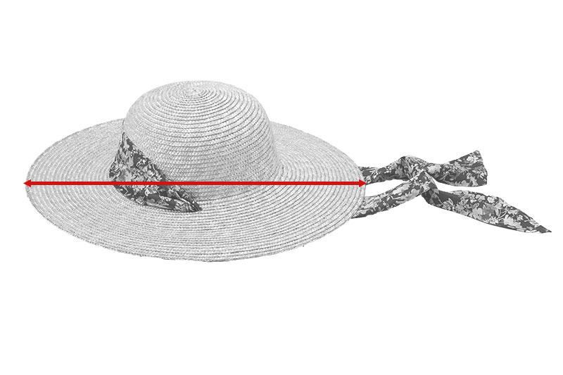 田中帽子店 uk-h108 Fiore フィオーレ ガーデニングハット 57.5cm リバティ風小花柄  サイズ