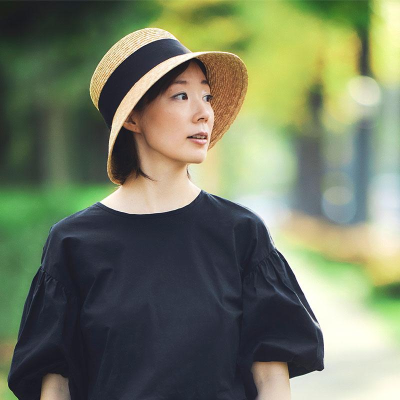 田中帽子店 uk-h111 Anika アニカ 麦わら 女優帽 クラウン浅め