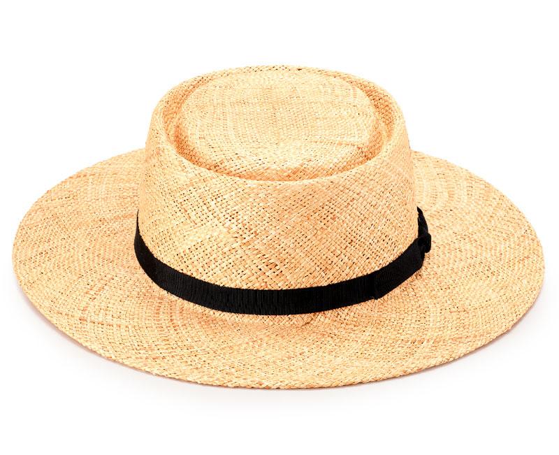 田中帽子店 uk-h115 Hanna(ハンナ) バオ草 ポークパイ型カンカン帽