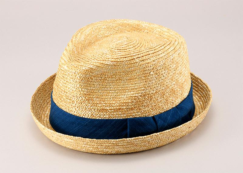 田中帽子店 小島屋 uk-kh077 藍染 小つば中折帽