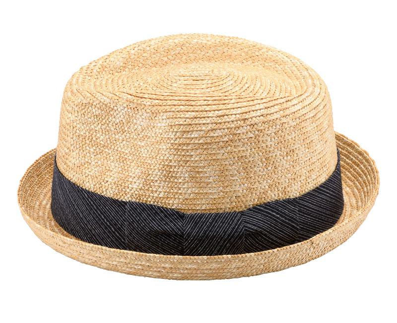 田中帽子店 uk-sh077 阿波しじら織りリボン 小つば中折帽