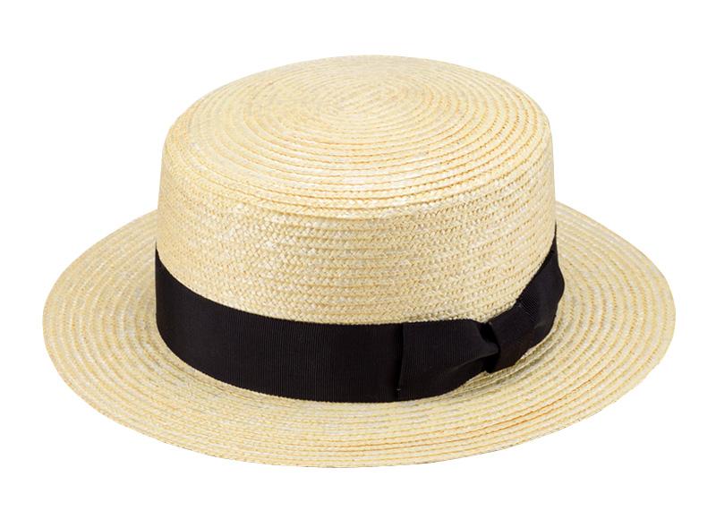 田中帽子店 uk-wh001 wa‐sou-和- GINO ジーノ 麦わら 紳士用カンカン帽子 60cm 和装にも合う紳士用カンカン帽