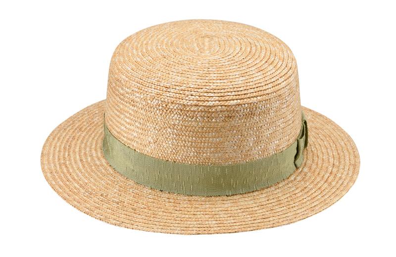 田中帽子店 uk-wh043 wa‐sou-和- Marin/f(マラン/フェム)麦わら 女性用カンカン帽子 57.5cm  カンカン帽と言えば女性用帽子の定番。年代を問わず愛されているデザインで、夏のワードローブの定番です。このマランは少し細めの素材で作られ、9cmの高さでしっかりかぶることが出来る、大人仕様のカンカン帽です。