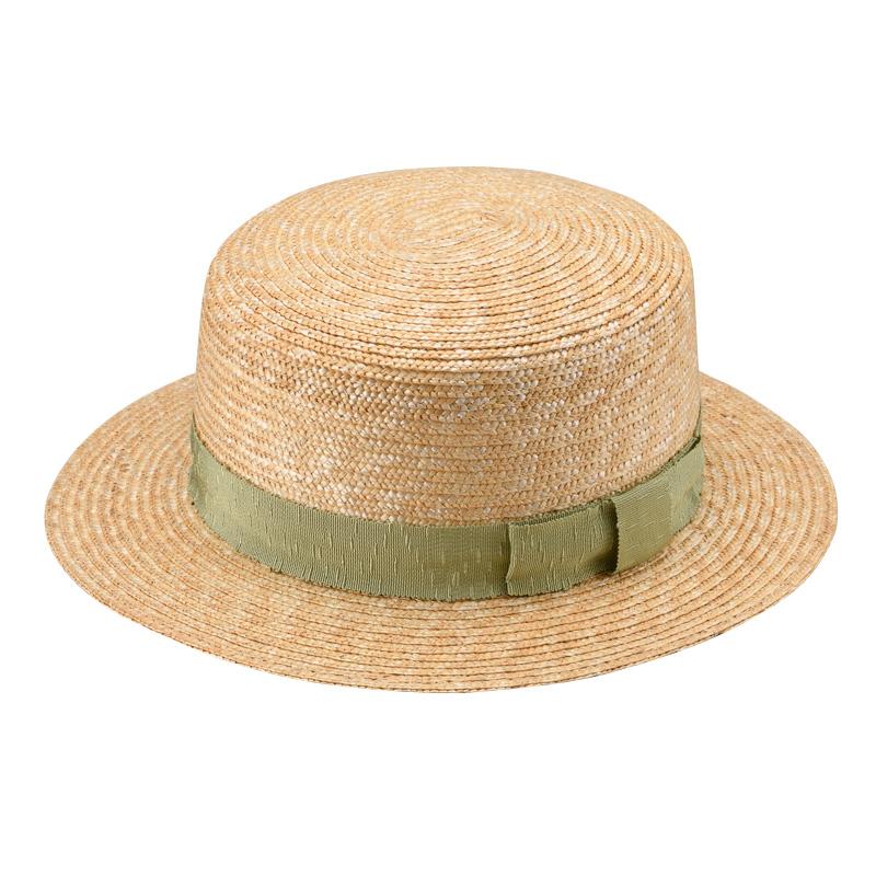 田中帽子店 uk-wh043 wa‐sou-和- Marin/f(マラン/フェム)麦わら 女性用カンカン帽子 57.5cm  カーキ