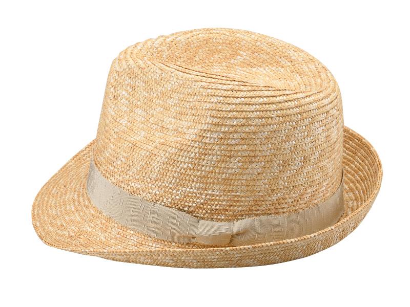 田中帽子店 uk-h067 Loan ロアン wa-sou 女性用 麦わら 中折れ帽子 57.5cm  機能性も備えた伝統手工芸品 麦わら帽子に使われるのは主に大麦の茎。それを7本組み、真田ひも状に編んだ「麦わら真田」が材料です。麦わらは空気をよく通し、帽子内にこもりがちな熱を放出し、熱中症対策にもなります。湿度の高い日本の夏こそ、昔ながらの麦わら帽子の良さを実感してください。