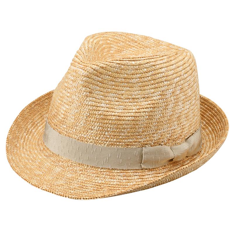 田中帽子店 uk-h067 Loan ロアン wa-sou 女性用 麦わら 中折れ帽子 57.5cm  ベージュ